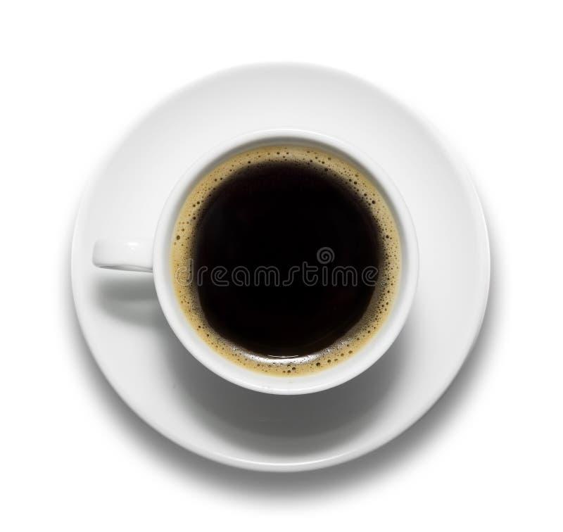 Taza de café y de platillo fotografía de archivo