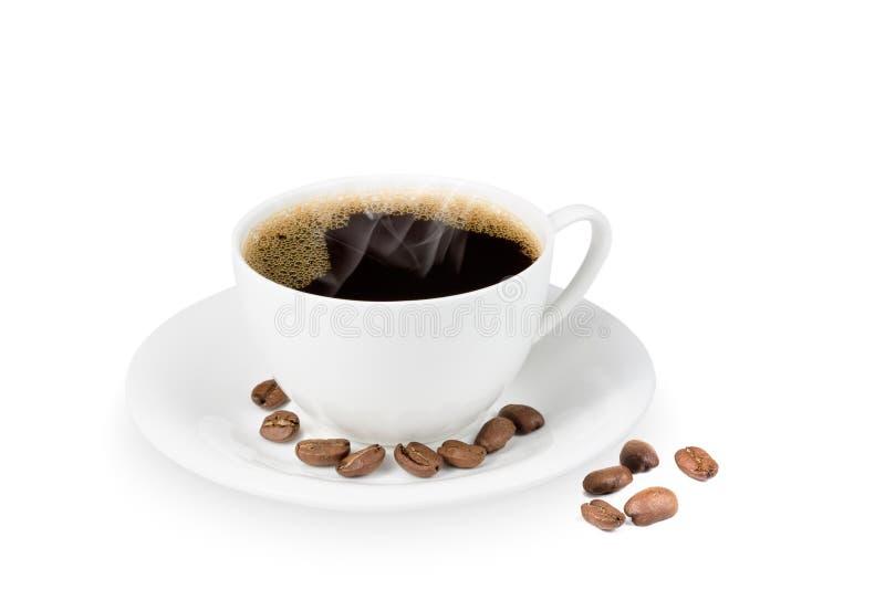 Taza de café y haba del coffe imágenes de archivo libres de regalías