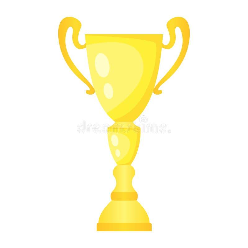 Taza de campeón de oro del trofeo del vector Premio del campeonato para el primer lugar libre illustration