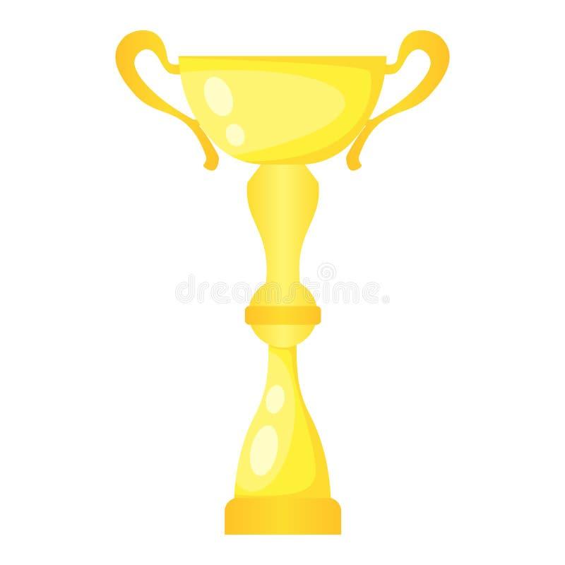 Taza de campeón de oro del trofeo del vector Premio del campeonato para el primer lugar stock de ilustración