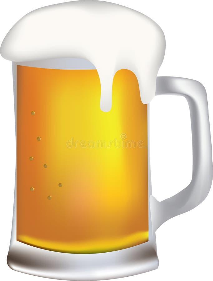 Taza de cerveza con espuma libre illustration