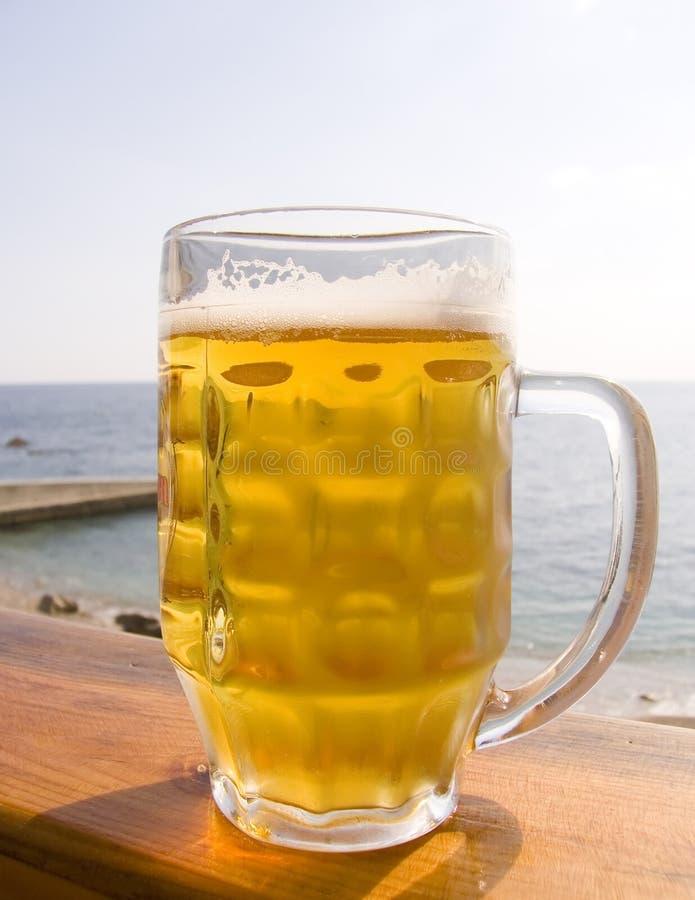 Taza de cerveza fría foto de archivo libre de regalías