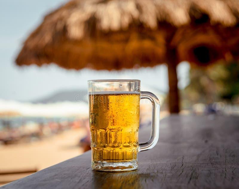 Taza de cerveza fría imagen de archivo libre de regalías