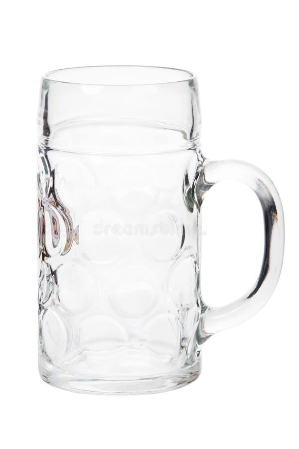 Taza de cerveza grande de 1 litro aislada foto de archivo libre de regalías