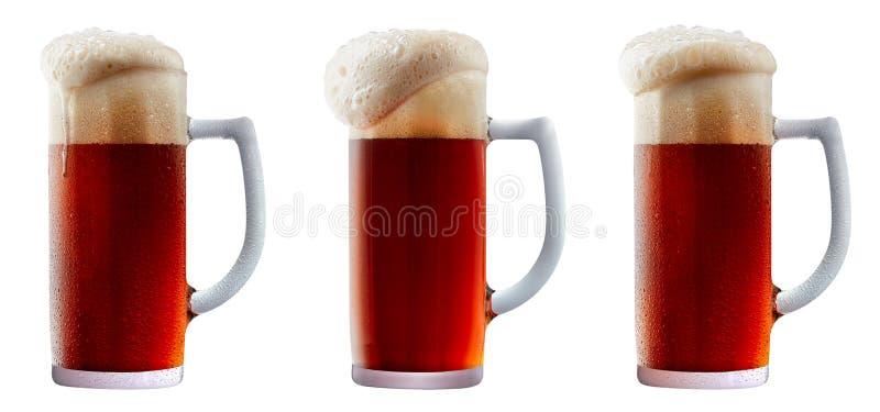 Download Taza De Cerveza Rojo Oscuro Escarchada Con Espuma Foto de archivo - Imagen de oscuro, escarchado: 100526094