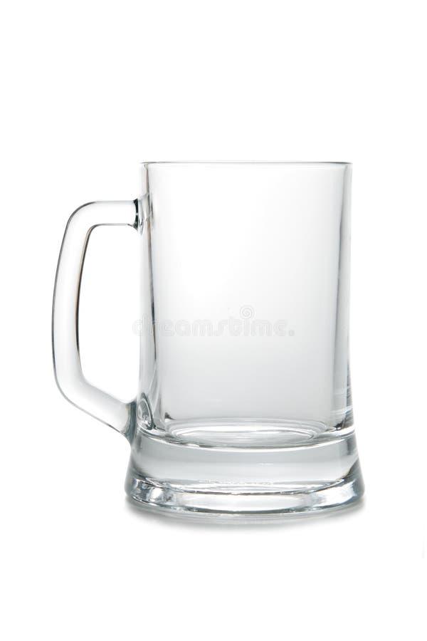 Taza de cerveza vacía imagen de archivo