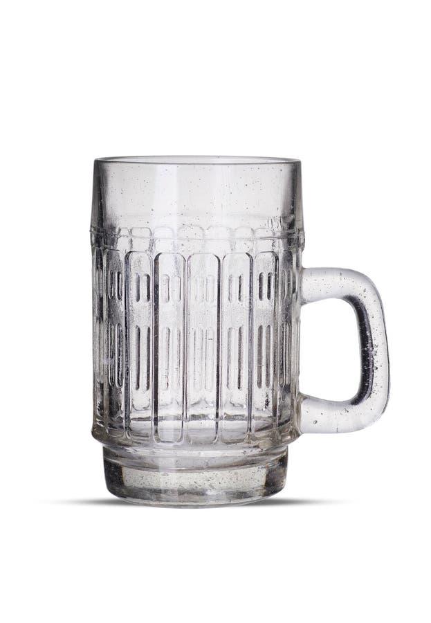 Taza de cerveza vac?a foto de archivo libre de regalías