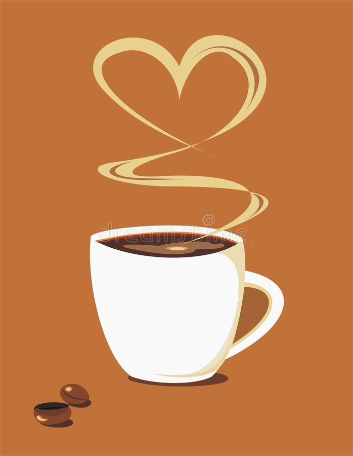 Taza de Cofe stock de ilustración