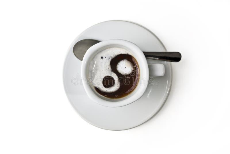 Taza de coffe negro fotografía de archivo