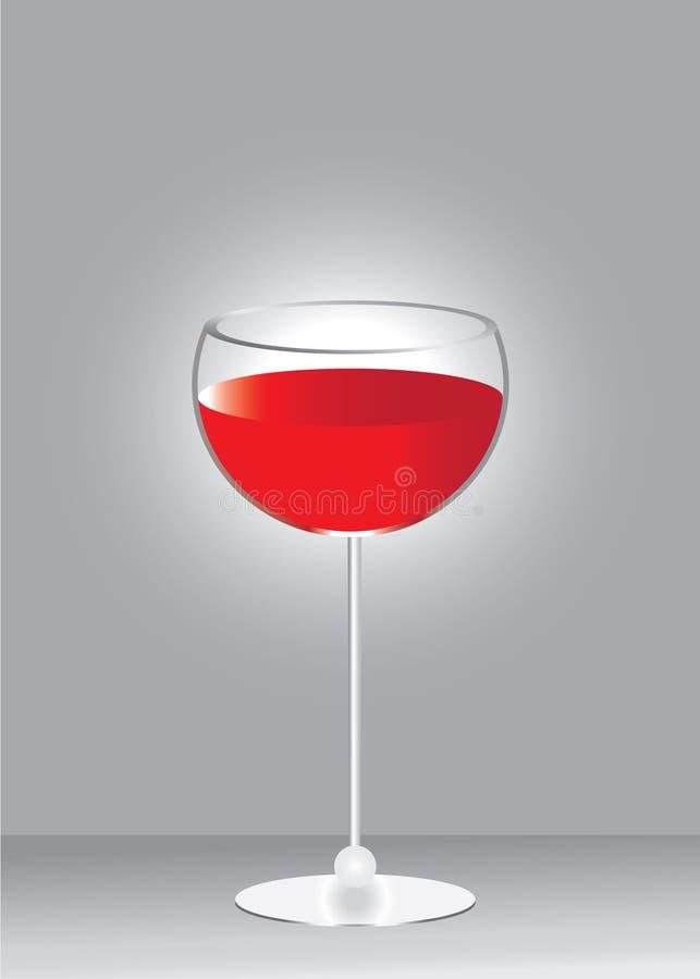 Taza de cristal con el vino rojo. libre illustration