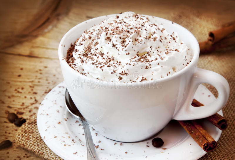 Taza de Frappuccino de café imágenes de archivo libres de regalías