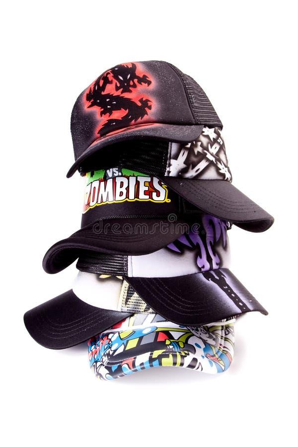 Taza de gorra de béisbol multicolor fotos de archivo