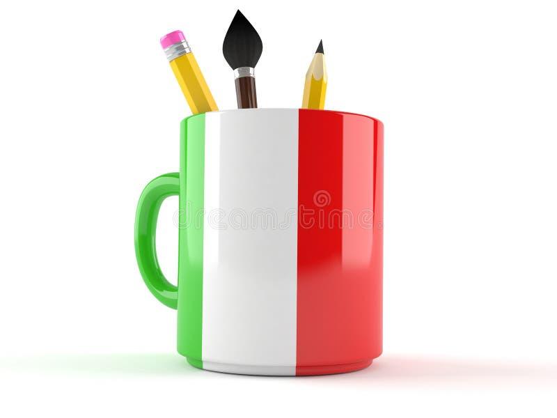 Taza de Italia stock de ilustración