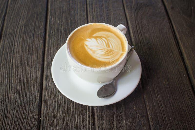 Taza de latte fotografía de archivo