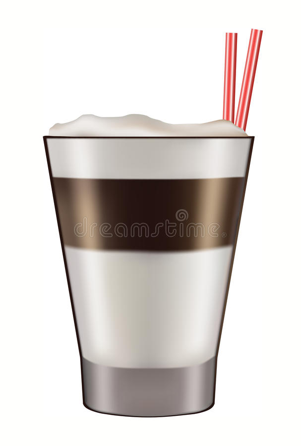 Taza de latte acodado del caffe ilustración del vector