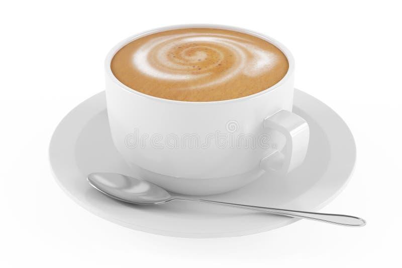 Taza de latte del café ilustración del vector
