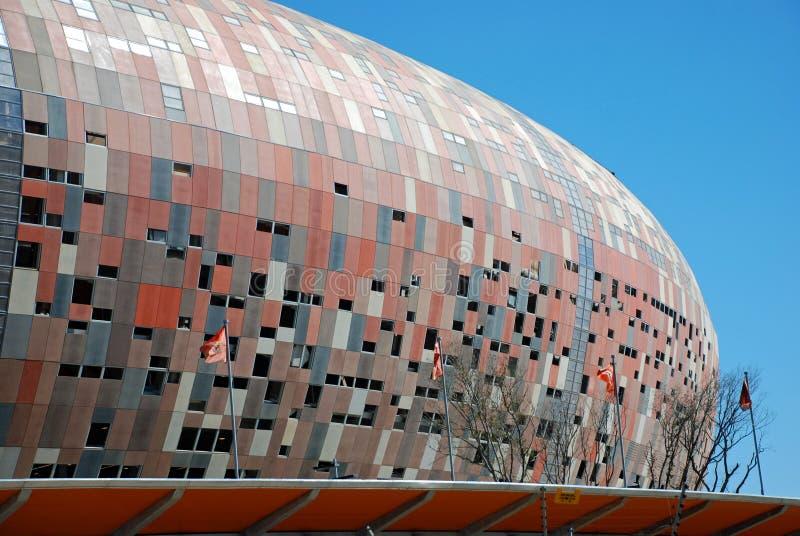 Taza de mundo del estadio de la ciudad del fútbol 2010 imagenes de archivo