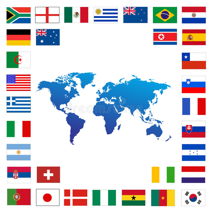 Taza de mundo del fútbol 2010 ilustración del vector