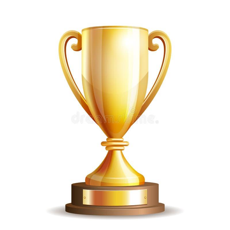 Taza de oro del trofeo libre illustration
