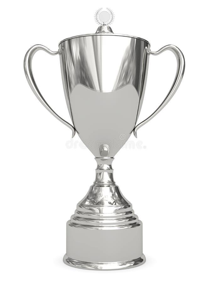 Taza de plata del trofeo en blanco libre illustration