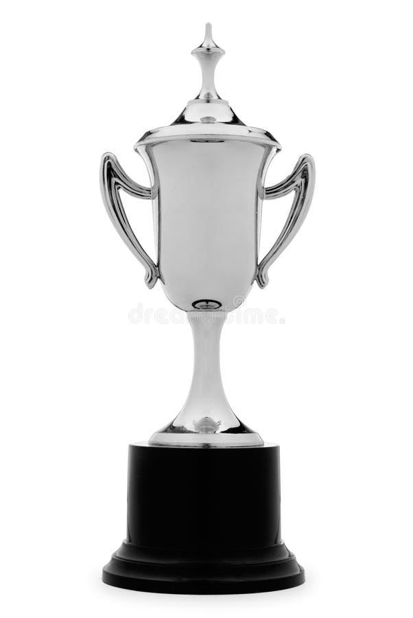 Taza de plata elegante del trofeo fotos de archivo