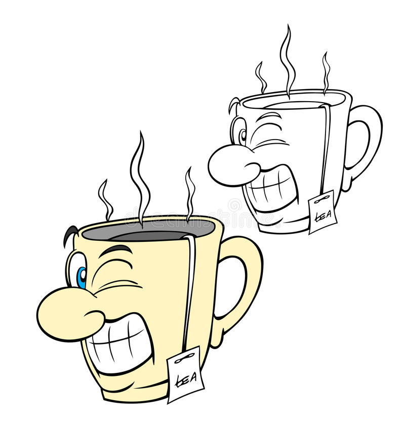 Taza de té stock de ilustración