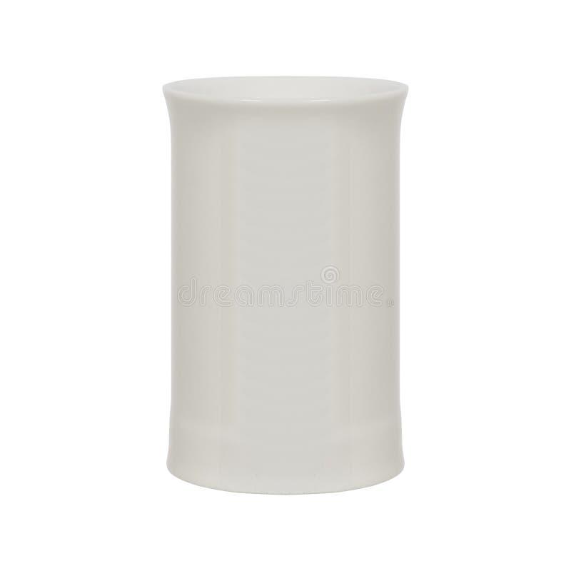 Taza de té aislada en blanco imagen de archivo
