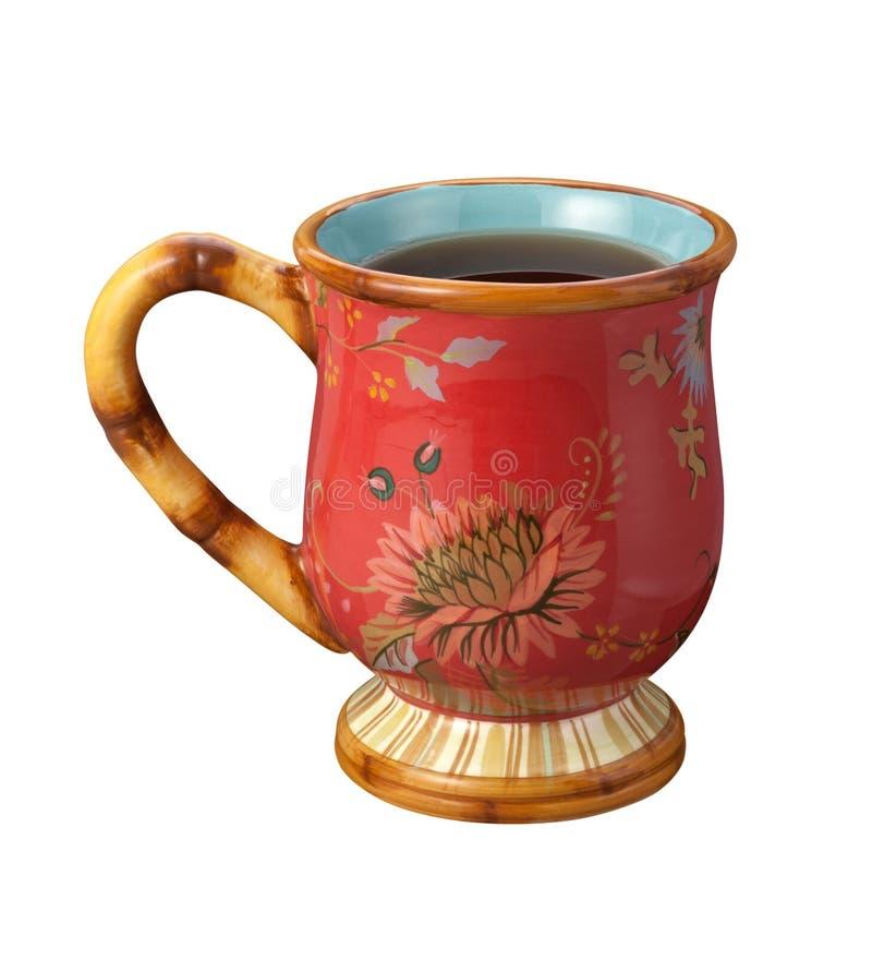 Taza de té aislada en blanco imagen de archivo libre de regalías