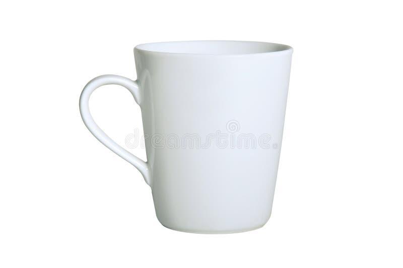 Taza de té blanca (aislada en blanco) fotografía de archivo libre de regalías