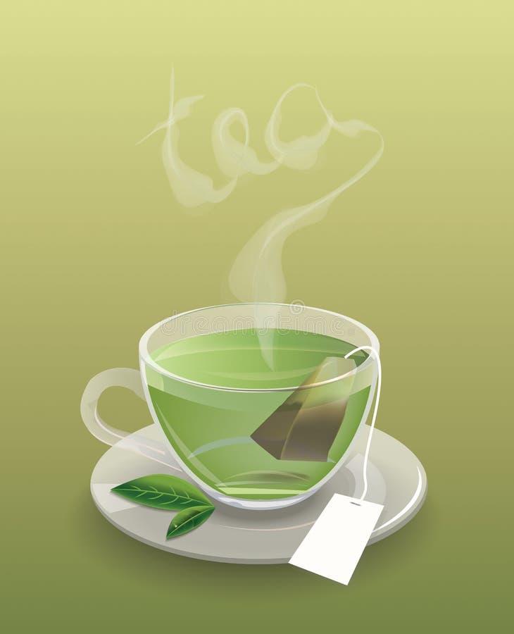 Taza de té con el bolso de té imagen de archivo libre de regalías