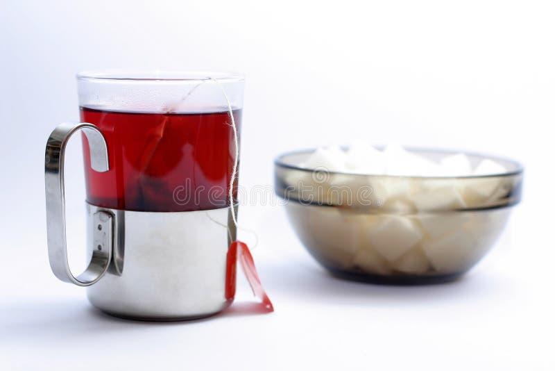 Taza de té de la fruta fotografía de archivo libre de regalías