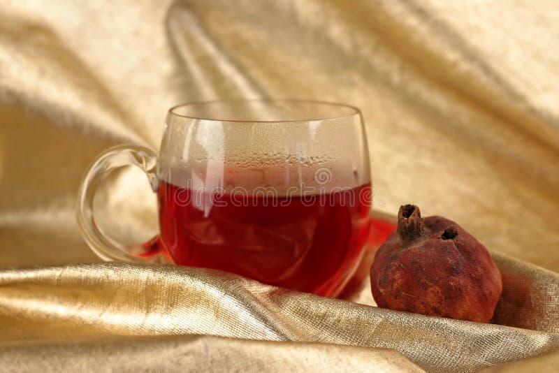 Taza de té de la fruta de los roibos fotografía de archivo