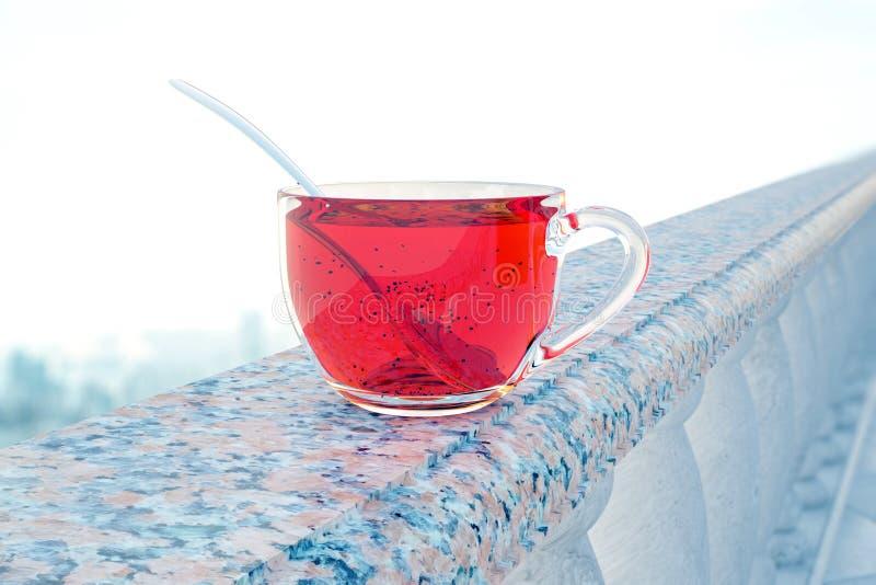 Taza de té en pilares libre illustration