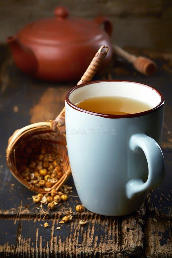 Taza de té herbario fotografía de archivo