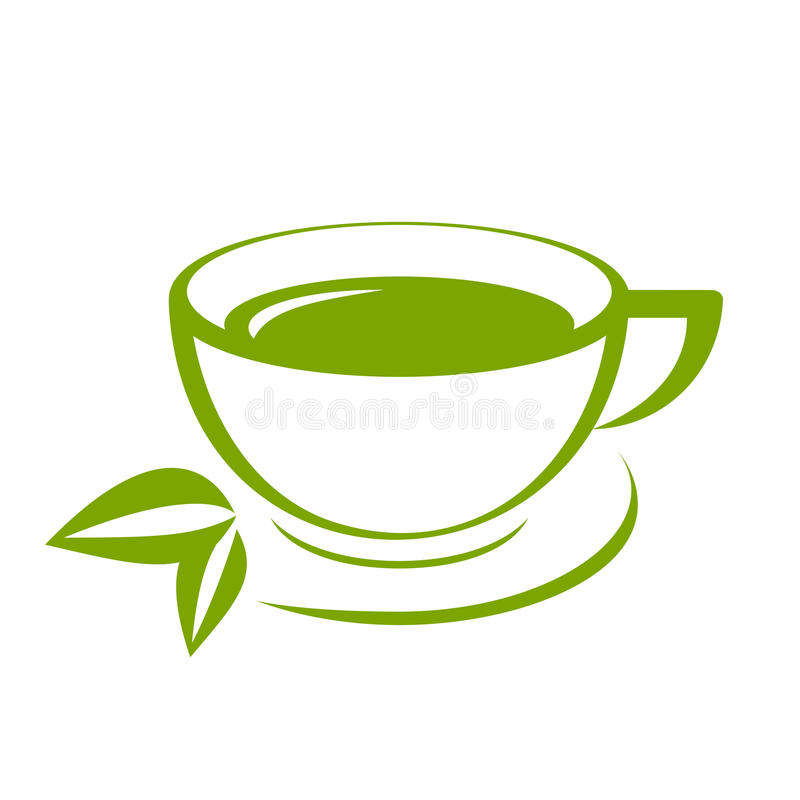 Taza de té verde ilustración del vector