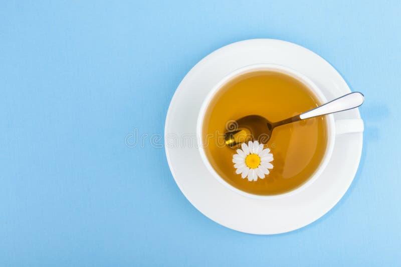 Taza de té y de manzanilla foto de archivo libre de regalías
