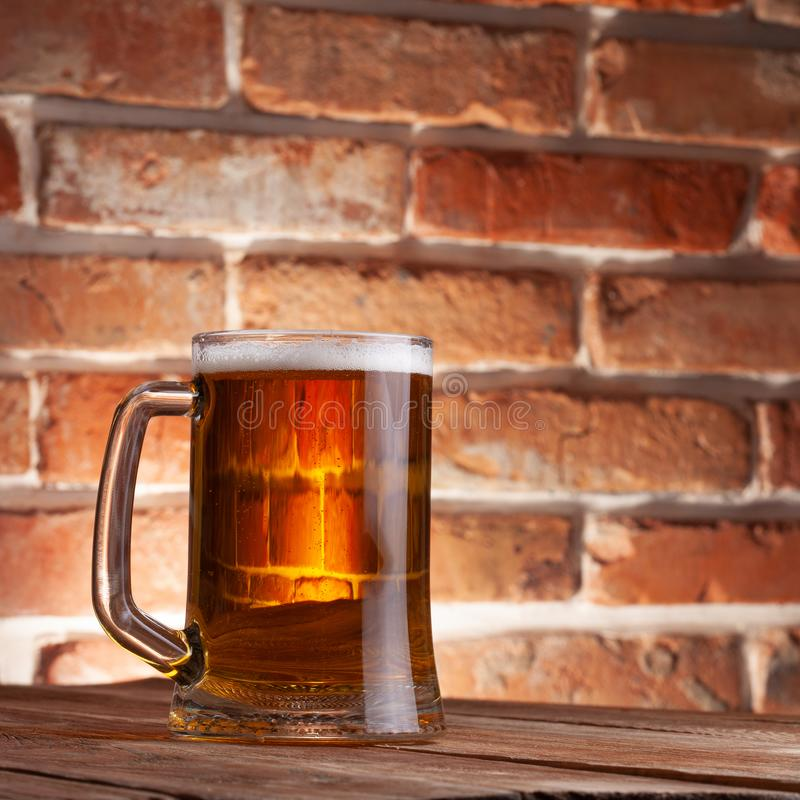 Taza de una cerveza foto de archivo libre de regalías