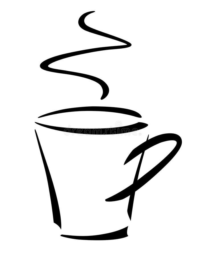 Taza del café. stock de ilustración