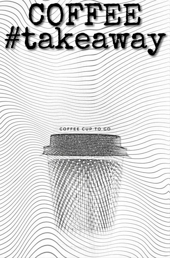 Taza del café con leche stock de ilustración