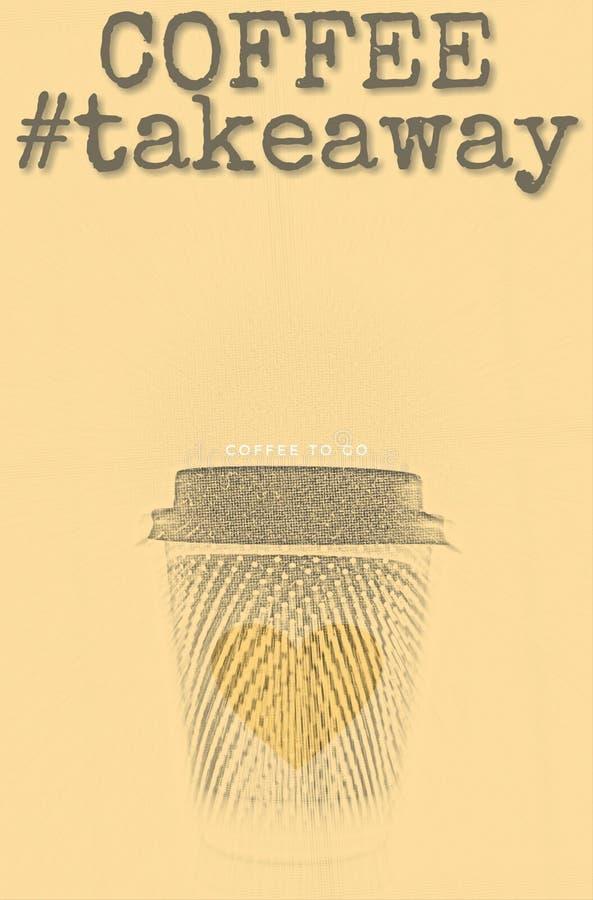 Taza del café con leche ilustración del vector