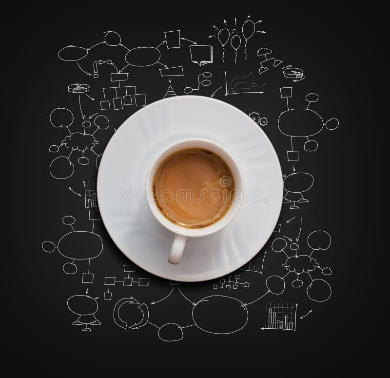 Taza del café con leche libre illustration