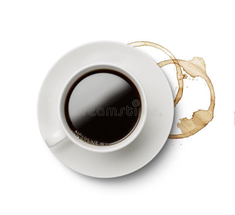 Taza del café con leche imagen de archivo