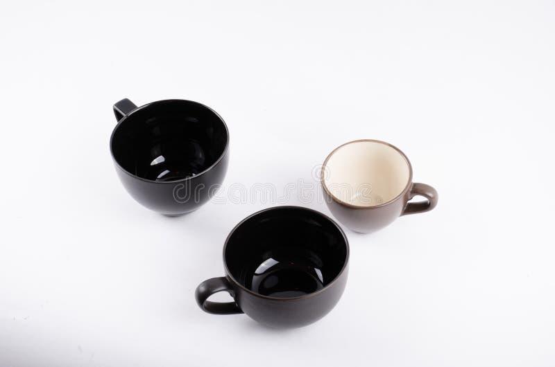 Taza del café sólo en blanco foto de archivo libre de regalías