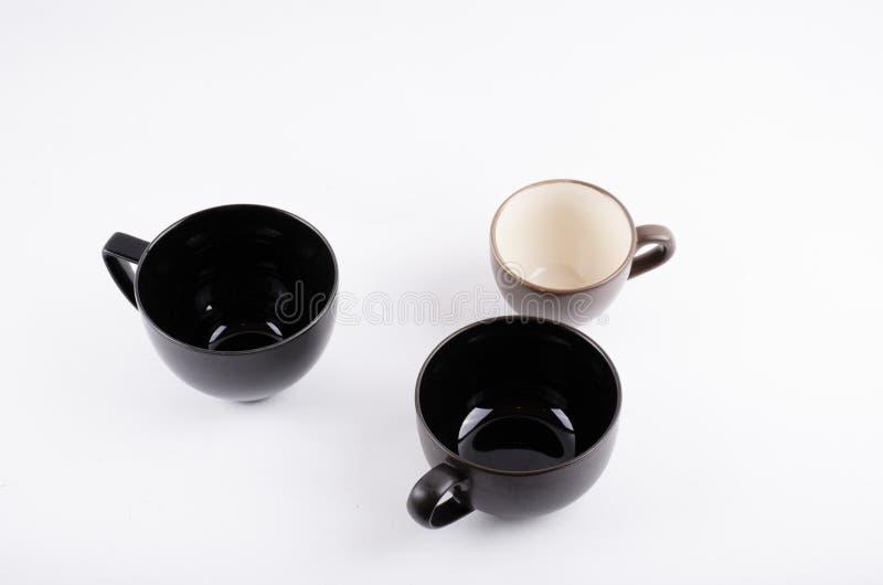 Taza del café sólo en blanco imagenes de archivo