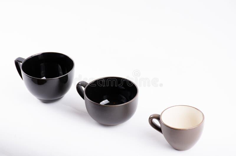 Taza del café sólo en blanco imagen de archivo libre de regalías