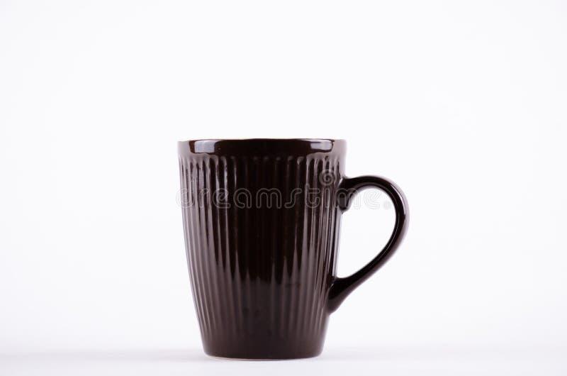 Taza del café sólo para el café express caliente de la bebida fotografía de archivo libre de regalías