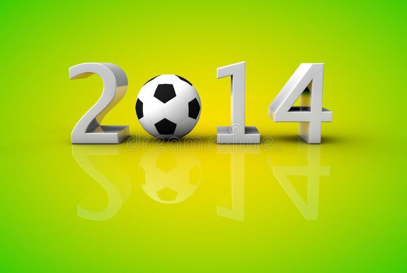 Taza 2014 del fútbol del fútbol del mundo del Brasil libre illustration