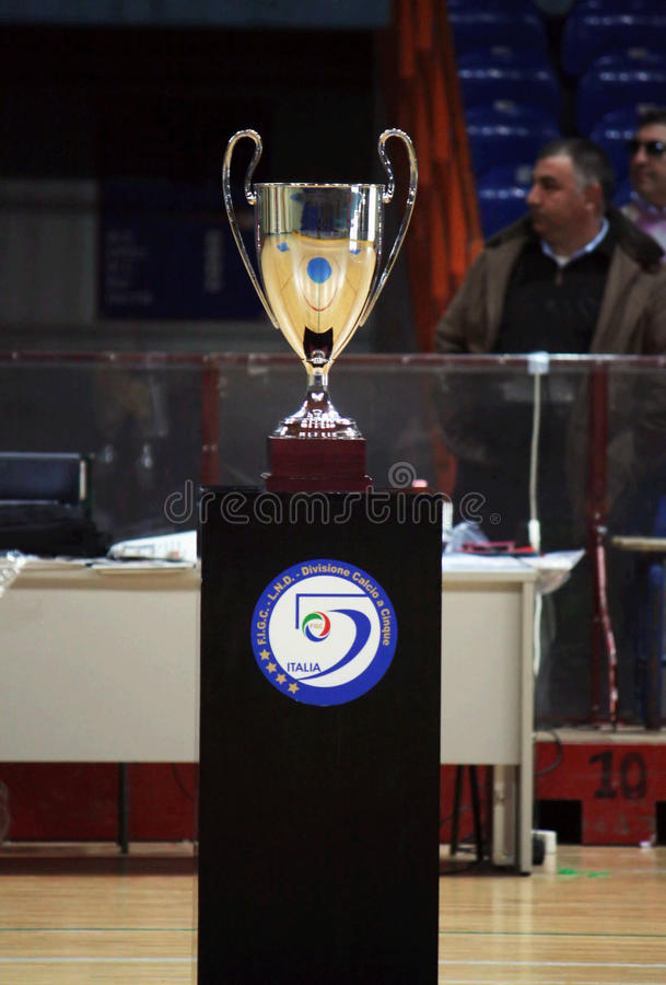 Taza del italiano de Futsal fotos de archivo
