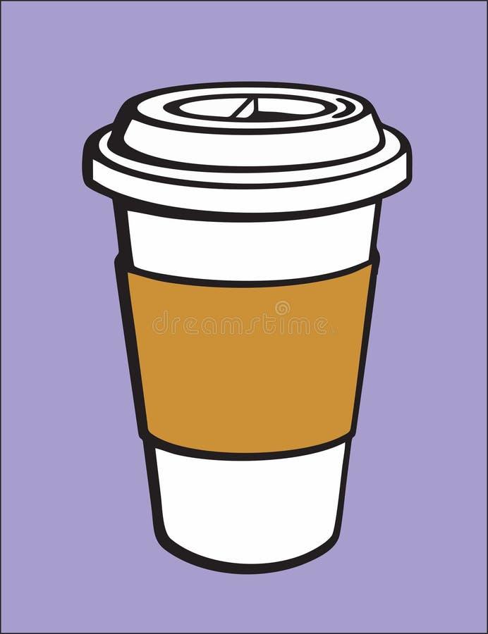 Taza del latte del café de la taza con la tapa imágenes de archivo libres de regalías