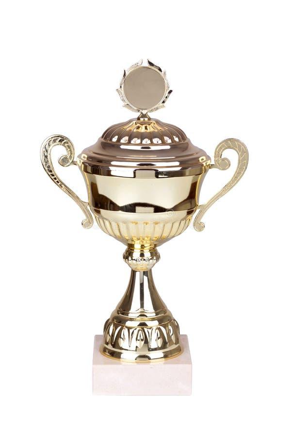Taza del trofeo del oro imagen de archivo
